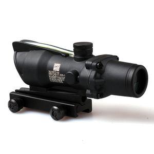 ACOG 4X32 Estilo real Rojo o verde Fuente de fibra Duel Iluminado alcance del rifle