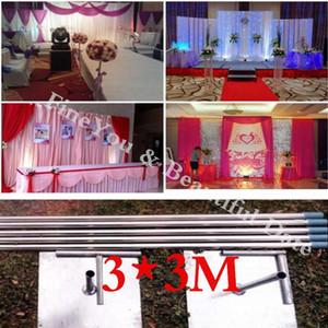 3m de altura x 3m de largura de aço inoxidável tubos de cenário de cenário de casamento com encaixe de hastes expansíveis