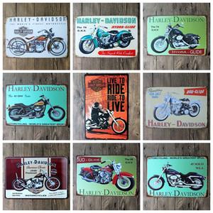 2016 20 * 30 cm clássico retro moto motocicleta Sinal Da Lata Café Bar Restaurante Arte Da Parede decoração Bar Pinturas de Metal
