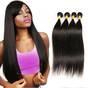 ELIBESS virgem produtos de cabelo rainha cabelo indiano indiano 10 polegadas-28 polegadas 4 pacotes 100g / peça onda reta