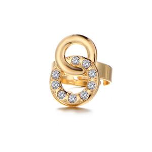 مجموعة مجوهرات GENBOLI قلادة أقراط سوار فتح البنصر مجوهرات اكسسوارات أربع مجموعات خمس قطع لونين