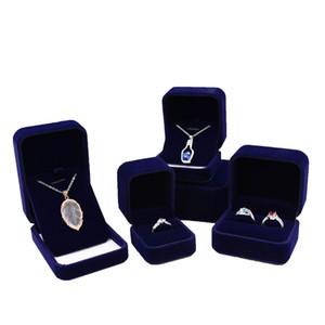Mazarine joyería caja de regalo terciopelo anillo azul anillo pendiente pendiente colgante encanto collar brazalete brazalete broche empaquetado joyería cajas