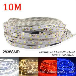 20M / lots ضوء LED قطاع 2835 SMD DC 12V 300LEDs / 5M انخفاض سعر أكثر من 5050 أبيض دافئ أزرق أحمر