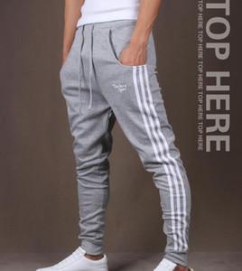 Los nuevos Mens Casual Harem pantalón Joggers Sport Gym Pantalones Hombres Bottoms Formación pista de jogging pantalones pantalones de deporte ocasional en ejecución