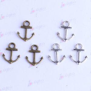 New fashion retro anchor gancio pendente antico argento / bronzo per gioielli fai da te pendente collana o bracciali adatti 450pcs / lotto 2493