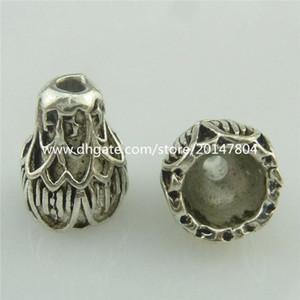 18766 25 pezzi vintage argento totem melone Lotus 9 millimetri distanziatori tallone tappo nappa tappo