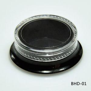 Новые горячие 100 косметические черные квадратные банки толстые стены квадратные контейнеры красоты-3 мл / 3 грамма (прозрачная крышка) пластиковые пустой макияж банку