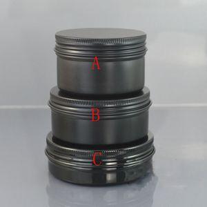 100g Black Golden Screwed Box für Handseife 100ml Schwarz Golden Metal Jar Aluminium Case Primärfarben Rot