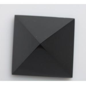 Commercio all'ingrosso HJT 178g Naturale nero ossidiana piramide di cristallo nunatak Reiki Healing cristallo di quarzo piramide decorazione 5.6 cm
