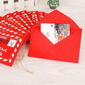 Новые праздничные принадлежности Рождественская елка одета повесить Рождество нетканый мешок конверт может конфеты рождественские открытки B0753