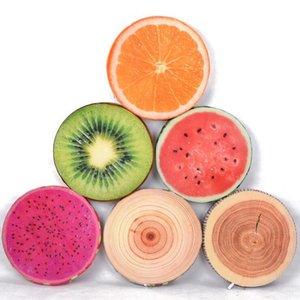 3D en peluche fruits éponge Coussin frais pastèque Kiwifruit Coussin orange Belle 38cm selle Accueil Canapé Décor oreiller