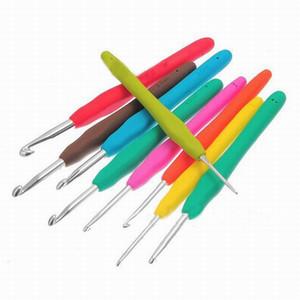 Freies Verschiffen, Multicolor Knittin Nadeln Mischmetallhaken Häkeln Template Kit TPR und Aluminium für Loom Werkzeug Band-DIY