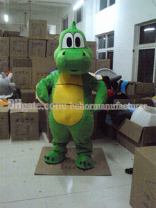 lovely green dinosaur mascot suit high quality discount sale adult, New dinosaur mascot costume free shipping.