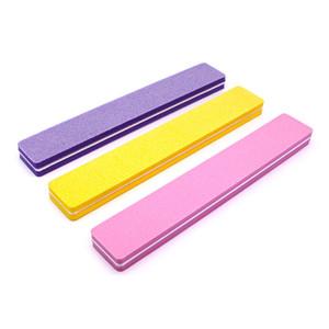 여러 가지 빛깔의 스폰지 바 물 세척 스폰지 양면 네일 파일 네일 파일 트림 네일 도구를 sandblade 닦는