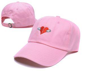 Casquette HEARTBREAKER BESTICKTE UNSTRUCKTED DAD CAP Denim HERZ-BREAK Herz golf hüte kanye west bär dad kappen Kermit tee hut 6 gott cap