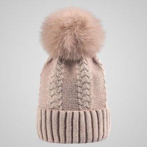 جديد الشتاء النساء الرجال الثعلب الصوف الكرة قبعة الشتاء الأرنب شعر محبوك القبعات كاب الكريات قبعات الإكسسوارات شحن مجاني