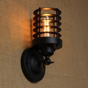 промышленный португальский стиль античный черный мини настенный светильник / поворотный кронштейн настенное освещение для мастерской / ванной комнаты тщеславия