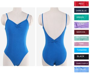 Brand Quality Adult Women Mulitiple Colors Black Blue Red Pink Purple Sleeveless Ballet Dance Leotard Camisole Dancewear Costume