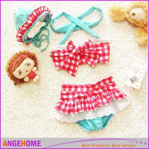 Sommer Baby Badeanzug Bikini Infantil Schwimmen Badeanzug Rock Kostüm Bademode Träger Plaid Gedruckt Für Mädchen Kinder Rüschen Bademode Badeanzug