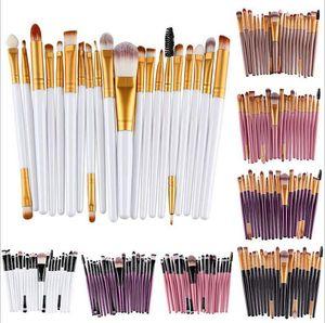 20pcs maquillage cosmétique pinceaux Set Fonds de poudre Fonds à paupières Eye-liner Tool de brosse à lèvres Marque Maquillage Maquillage Brosses Beauté Outils Pincel Maquiagem