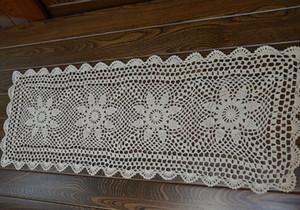 Camino de mesa rectangular, camino de mesa de ganchillo a mano, camino de mesa para decoración del hogar, camino de mesa hecho a mano, aa001 decorativo