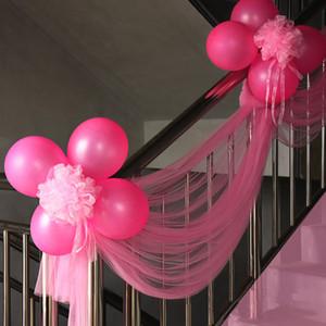 Свадебные лестницы перила декоративные цветы украшение комнаты бракосочетания Снежная пряжа мяч свадьба украшения лестницы оптом