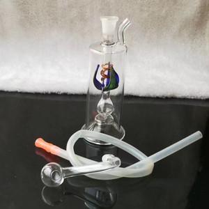 Las mangueras de flores múltiples de alta calidad no envían electrones, al por mayor bongs de vidrio Quemador de aceite Tubos de vidrio Tubos de agua Plataformas de aceite Fumar gratis Shipp