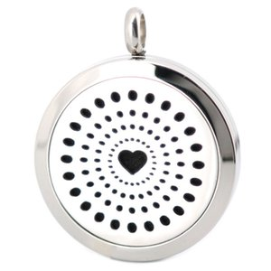 10pcs magnet 30mm plain Heart Boom Aromatherapy Essential Oil surgical Stainless Steel Perfume Diffuser Locket Necklace with chain , inclu