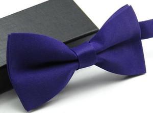 Bowtie Bow Tie das mulheres dos homens de moda Cores Sólidas de Seda Poliéster Pré Amarrado Laços Para A Festa de Casamento Laços