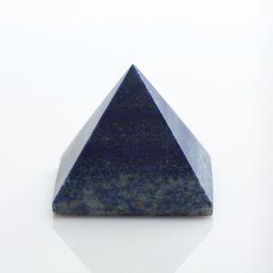 En gros HJT Naturel lapis lazuli cristal pyramide nunatak Reiki Guérison Lapis lazuli cristal quartz décoration pyramide 45mm