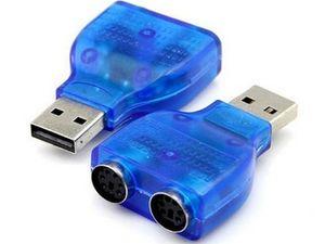 Sıcak satış Dönüştürücü USB A Erkek PS2 Kadın Uzatma Bağlayıcı Y-Splitter Tak Adaptörü 1 Erkek 2 Kadın için PC Klavye Fare