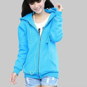 Winter Autumn Coat Female Korean Female Student Cardigan Sweater Female Big Yards Leisure Hoodies Plus Size Women Hoodies S M L XL XXL