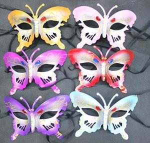 Nuevo Butterfly Party Máscaras Drill Mask Party Show Máscara Butterfly Wing Set Butterfly Wing Diadema Fairy Bar Party Máscara Suministros