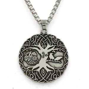 MCW Totem Religieux Style Pendentif Viking Norse Soldats Vie Arbre de Vie Amulettes Pendentif Collier Amulettes Irlandaises
