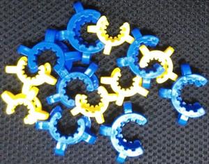 10mm 14mm 18mm conjunta clip de plástico Keck de plástico de recogida de receptor Keck clip de laboratorio Pinza Clip adaptador de vidrio para fumar pipa