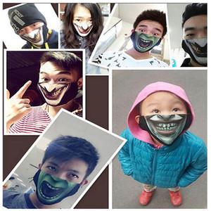 Máscaras do partido Crânio Moda Halloween Cosplay Metade expressão face máscaras contra poeira para máscaras Cleaner Ski Motociclista da motocicleta HH7-17