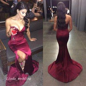 2019 sexy borgoña vestido de fiesta vino rojo sirena cariño largo formal ocasión especial dress party dress plus size vestidos de fiesta