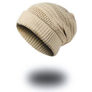 Europe et les États-Unis beanies beanies nouveau bonnet tricoté pour augmenter l'épais chapeau de laine de curling hiver bonnet chaud 5 couleurs