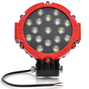 Toptan Süper Parlak, 7 '' 51 W LED İş işık Led Araba Far 12 V led araba spot 4x4 ATV SUV Tekne Sürüş Lambası