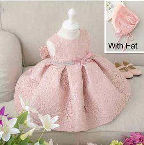 Neueste Infant Baby Girl Birthday Party Kleider Taufe Ostern Kleid Kleinkind Prinzessin Spitze Blumenkleid für 0-2 Jahre