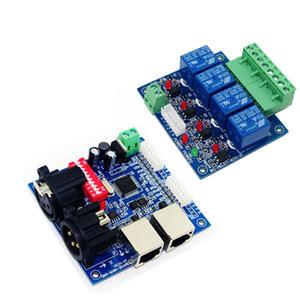 meilleur prix DC12V carte mère DMX-RELAY-4 canal dmx512 relais décodeur utiliser pour led lampe