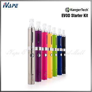 Autêntico KangerTech EVOD Starter Kit com 650mA EVOD Bateria e 1.6ml EVOD BCC Atomizador Kanger EVOD E-Pen Duplo Set 7 Cores Disponíveis