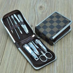 9 Шт. / Компл. Профессиональные Кусачки Для Кутикулы Ногтей Педикюр Маникюр Очиститель Grooming Kit Case Tool Home Essential Высокое Качество
