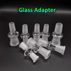 Convertidor de adaptador de vidrio 10 mm 14 mm 18 mm macho hembra a 10 mm 14 mm 18 mm macho hembra adaptadores de vidrio para agua Bongs Dab Rigs Quartz Banger