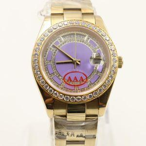 Montres-bracelets chronographe montre en diamant de réserve de marche montre Mans mechinal montre la taille de 36mm Verre saphir de haute qualité