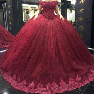 Vestidos de quinceanera vestidos de mangas curtas beading lantejoulas strass babados tule lace up vestido de baile doce 16 vestidos