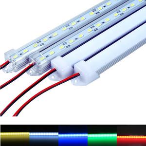 """Водонепроницаемая жесткая светодиодная лента 5630 SMD Led Bar 50cm 100cm LED Bar Light С корпусом в стиле """"U"""" с торцевой крышкой + крышка ПК"""