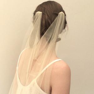 Персонализированные Элегантный Drape вуаль венчания с милой расческу Gold Фата аксессуары «Оксфорд» Пелерина Veil богемского Цветные покрывал для невест