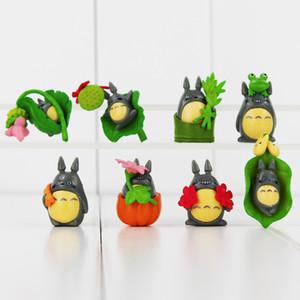 어린이 선물 3.2-4.7cm 귀여운 애니메이션 내 이웃 토토로 PVC 액션 피규어 수집 가능한 모델 장난감