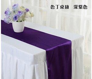 """Gros-Free shipping Table Royal Blue Satin Runner 12"""" x 108"""" Décor de mariage"""